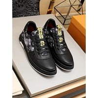 lv louis vuitton men fashion boots fashionable casual leather breathable sneakers running shoes 96