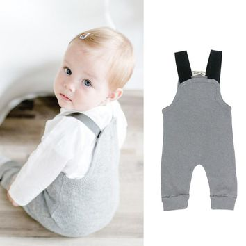 Baby Toddler Gray Sleeveless Rompers jumpsuit