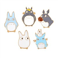 1Pcs!  Fashion Jewelry Accessories Cartoon Alloy Enamel Pin Badge Totoro Cute Brooch For Girls As Gifts