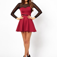 Oh My Love Belted Skater Dress