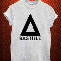bastille logo Music tee Ash Grey t Shirt Men and Women T Shirt more size available