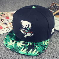 2015 New Fashion Snapback Weed Pattern Baseball Cap Casual Hats and Caps Adjustable Sport Hip Hop Bone Snapbacks for Men Women