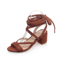 Summer Design Stylish Cross Strap Plus Size Korean Sandals [4914876100]