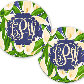 Car Coaster, Monogrammed Car Accessories for Women,  Monogrammed Car Coaster, Cute Car Accessories, Custom Car Accessory Car Accessories