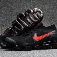 Nike Unsex Air Vapormax Flyknit 2018 Black/Orange Basketball Sneaker