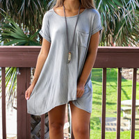 All Too Well Taupe Solid Knit Dress