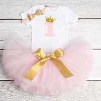 Baby Girl First 1st Birthday Outfits Brand Summer Baby Sets Toddler Girl Baptism Clothes Suits One Year Little Baby Clothing Set