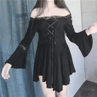 Unique Lolita Dress Steampunk Women Dark theme Goth clothes