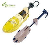 New Arrival 2018 Women Mens Shoes Tree Stretcher Durable Solid Wooden Shaper Length Width Adjust 35-46 Free Drop Shipping