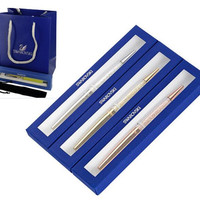 Popular gift Swarovski Crystal pen with Full gift package retail box case bag Ballpoint pen For office school stylo roller Pen