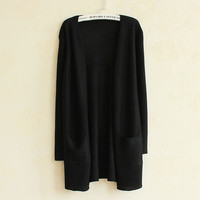 Women's Long-sleeved Knitted Cardigan Sweater -10 Colors