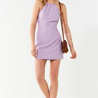 UO Maxine Linen Halter Bodycon Dress | Urban Outfitters