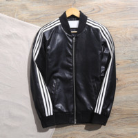 "Fashion ""Adidas"" Zipper Sweatshirt Jacket Coat Sportswear Black"