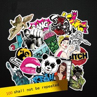 Fashion cool 50-100 pcs PVC stickers