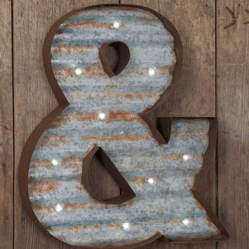 Metal Ampersand Marquee Sign