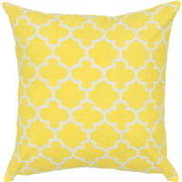 """Two Color Printed Yellow Pillow Cover (18"""" x 18"""")"""