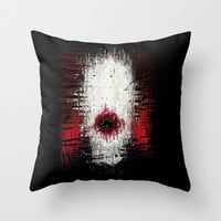SlenderMan Throw Pillow by brett66