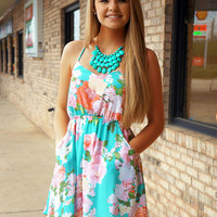 Mint Floral Sundress