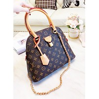 LV Louis Vuitton Newest Hot Sale Women Leather Shell Handbag Shoulder Bag Crossbody Satchel
