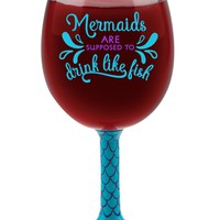 Mermaid Tail XL Wine Glass - Holds an Entire Bottle of Wine!