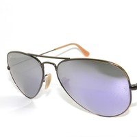 Cheap RAY BAN SunglaSSeS 3025 BRUSHED BRONZE/LILAC MIRROR 167/4K AVIATORS NEW 55 outlet