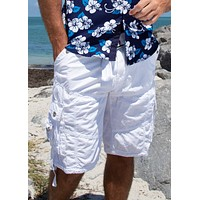 153100 - Cargo Shorts Solid White