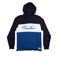 Marathon Longsleeve Hooded Tee In Navy