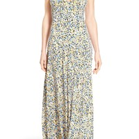 MICHAEL Michael Kors 'Chiltington' Print Jersey Maxi Dress (Regular & Petite) | Nordstrom