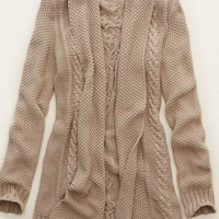 Aerie Women's Cable Knit Cardi