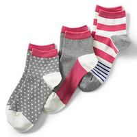 Women's Seamless Toe Pattern Ankle Socks (3-pack) from Lands' End