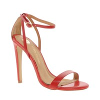 River Island | River Island Barely There Red Heeled Sandals at ASOS