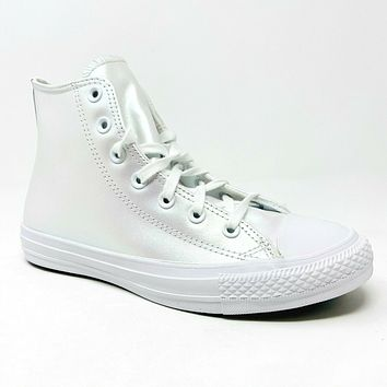 Converse Chuck Taylor All Star Hi White Iridescent 566094C Womens Shoes