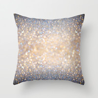 Glimmer of Light (Ombré Glitter Abstract) Throw Pillow by soaring anchor designs ⚓   Society6