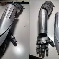 Edward Elric Inspired Plastic Cosplay Gauntlet - Full Metal Alchemist