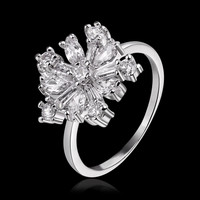 Floral White Gold Ring