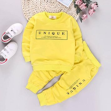 New Autumn Spring Letter Newborn Clothes Baby Boy Clothes For Boys Outfits Kids Sport Suit Baby Girl Clothes Set Infant Clothing