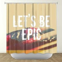 DiaNoche Designs Shower Curtains by Arist Rachel Burbee Unique, Cool, Fun, Funky, Stylish, Decorative Home Decor and Bathroom Ideas - Lets Be Epic