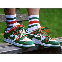 Nike Dunk Low Off-White Pine Green low-top casual skateboard shoes