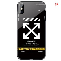 Off White New fashion letter arrow print couple camouflage protective cover phone case 2#