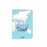 I Really Need To Travel World Map Customized Cute Leather Passport Holder - Passport Covers - Passport Wallet_SUPERTRAMPshop