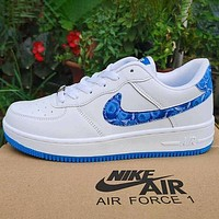 Nike x Louis Vuitton LV white shoes casual trend board shoes men and women air force one shoes