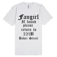 Sherlock Fan-Unisex White T-Shirt