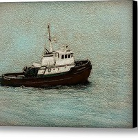 A Hardworking Tugboat Canvas Print / Canvas Art By John Bailey