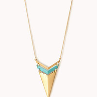 Spiked Chevron Necklace
