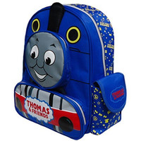 Fashion High Quality Baby Kid Toddler Child Infant Nursery Boy Girl Thomas Friends The Tank Train Cartoon Canvas Travel Backpack Shoulder Book School Bag Rucksack Schoolbag Xmas Gift (Blue)