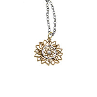 Elements Fire Virtue Sterling Silver Bronze Necklace