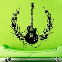 Wall Decals Vinyl Decal Sticker Wall Murals Wall Decor music guitar songs DA2039