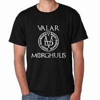 Man's Tee Shirt Valar Morghulis Game Of Thrones