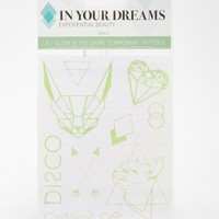 In Your Dreams Disco Glow In The Dark Temporary Tattoos