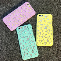 Handmade Hollow Out Pearl Case Cover for iPhone 5s 6 6s plus